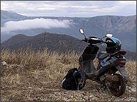 Путешествия на мото. Поездки в горы на скутере. Экстримальные путешествия.